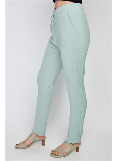 Rodi Jeans Kadın Angel Airobinli Jogger Pantolon Rd21Yb012014 Yeşil
